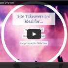 Fast and Effective Promotion with Site Takeovers